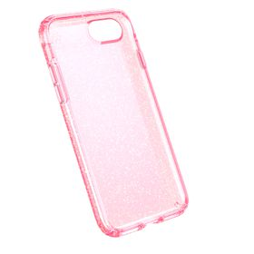 Speck Presidio case for iPhone 7 - Clear with Pink Glitter